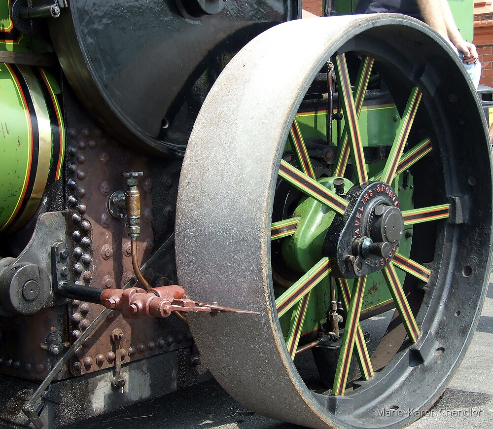 Steam roller  by Marie-Karen Chandler