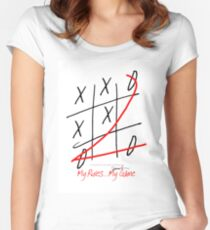 My Rules...My Game (10) from tony fernandes design Women's Fitted Scoop T-Shirt