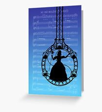 Wicked The Musical No One Mourns The Wicked Score Greeting Card