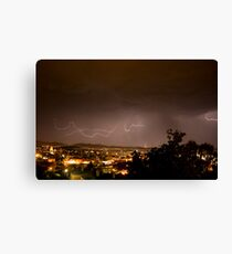 Lightening Over Glebe Canvas Print
