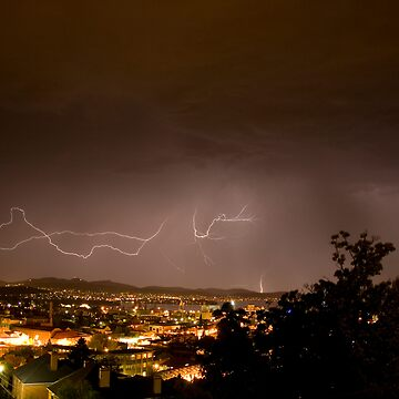 Lightening Over Glebe by andyzoot