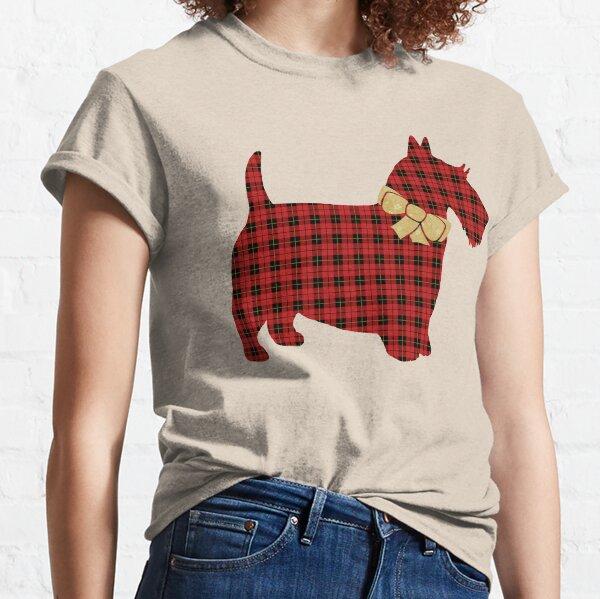 Scottie Dog Tartan Plaid Classic T-Shirt