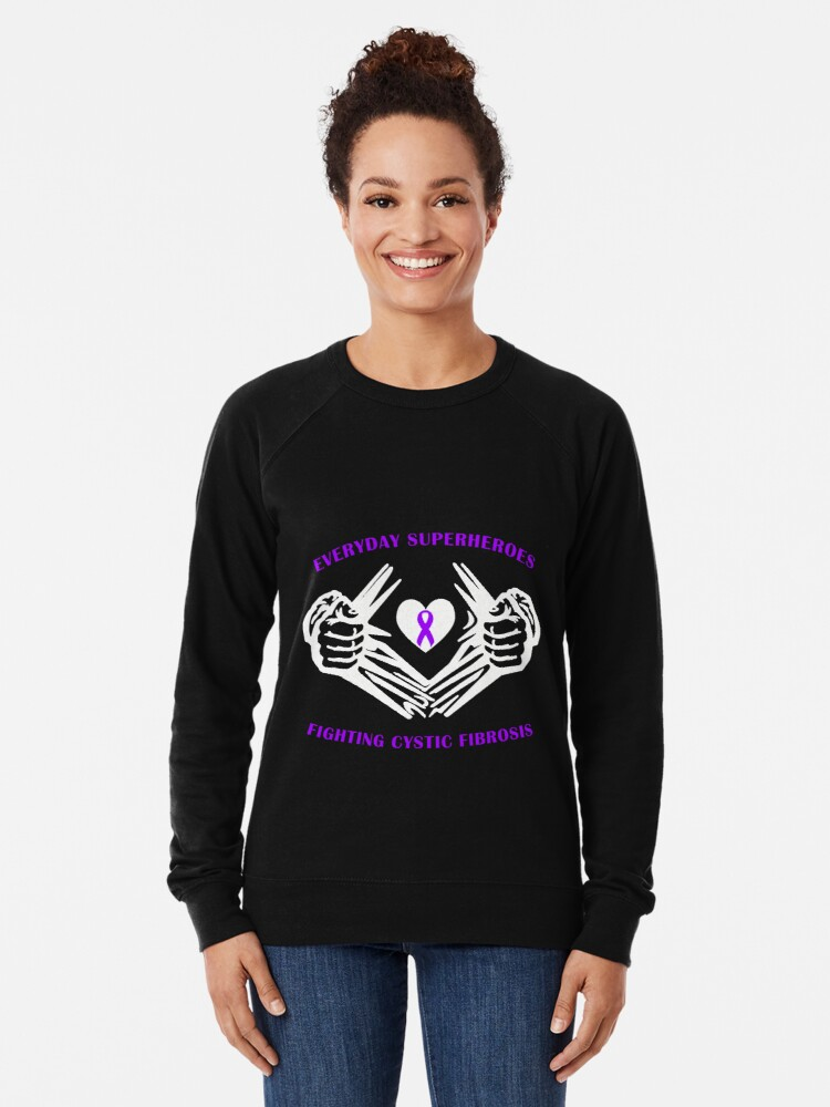 Alternate view of Cystic Fibrosis Heroes Lightweight Sweatshirt