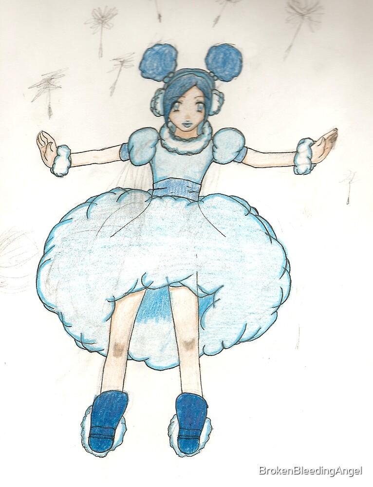 Blue Puff girl by BrokenBleedingAngel