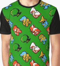 Final Fantasy NES / characters / pattern / green grass Graphic T-Shirt