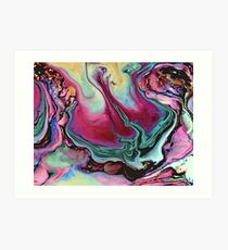 Colorful abstract marbling Art Print