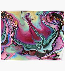 Colorful abstract marbling Poster