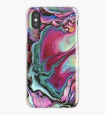Colorful abstract marbling iPhone Case/Skin