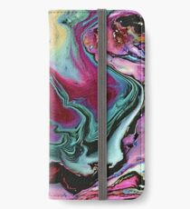 Colorful abstract marbling iPhone Wallet/Case/Skin