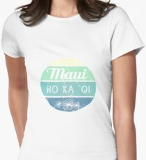 Maui No Ka Oi Womens Fitted T-Shirt