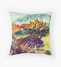 watercolor provence Throw Pillow