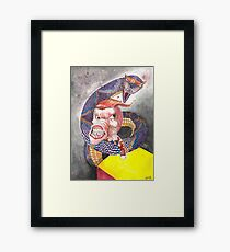 Survive the Coil - Qbert Series #1 Framed Print