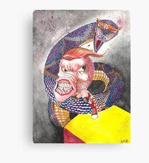 Survive the Coil - Qbert Series #1 Canvas Print