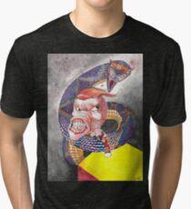 Survive the Coil - Qbert Series #1 Tri-blend T-Shirt