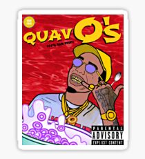 QuavO's Cereal (RED) Sticker