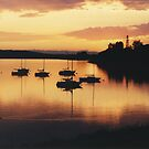 Sunset sails by Al Bourassa