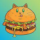 Hamburger Cat by Samantha Moore