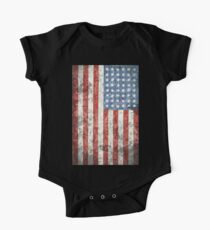 Vintage-Style US Flag One Piece - Short Sleeve
