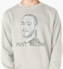 Post Malone illustration with text Pullover