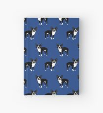 Boston Terrier dog breed pet friendly pattern simple basic dog lover gifts by PetFriendly Hardcover Journal