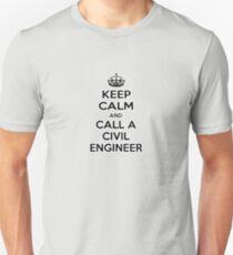 Keep Calm and Call a Civil Engineer Unisex T-Shirt