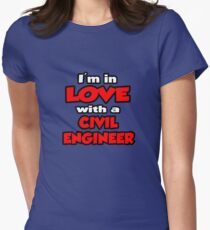 I'm In Love With A Civil Engineer Women's Fitted T-Shirt