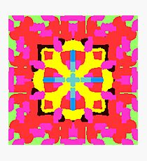 Key Lime Geometric Fuzzy Floral  Photographic Print