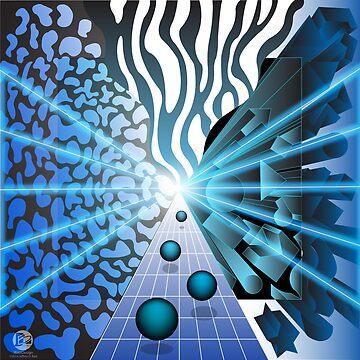 Blue Convergence by jbattdesign