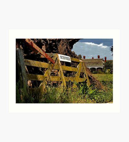 """Sunnyside Farm Gate"" Art Print"