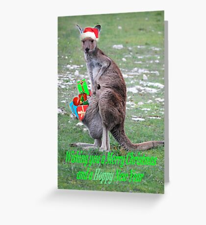 Merry Christmas and a 'Hoppy' New Year Greeting Card