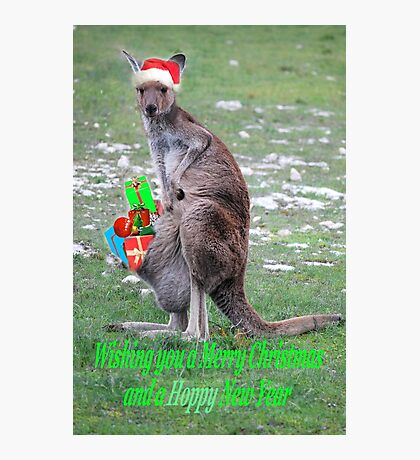 Merry Christmas and a 'Hoppy' New Year Photographic Print