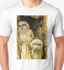 Baby Great Horned Owl Siblings Unisex T-Shirt