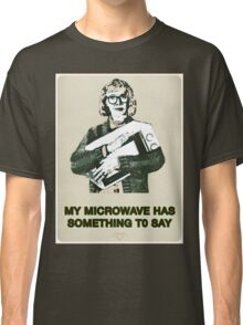 Microwave - Twin Peaks/Log Lady Parody Classic T-Shirt
