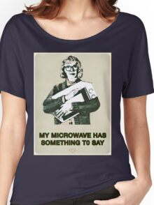 Microwave - Twin Peaks/Log Lady Parody Women's Relaxed Fit T-Shirt