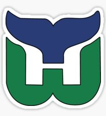 Hartford Whalers CT Logo Sticker
