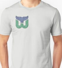 Hartford Whalers CT Logo Watercolor (see profile for regular) Unisex T-Shirt