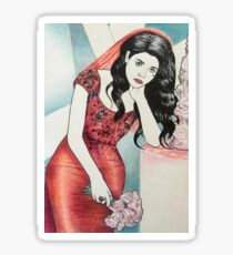 "Marina and the Diamonds 16 - ""Always a bride, never a bridesmaid"" Sticker"
