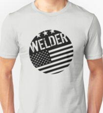 Welder: Black Flag (Circle) Unisex T-Shirt
