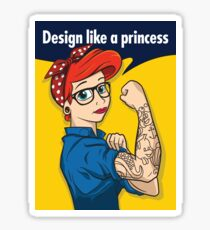 Design like a princess Sticker