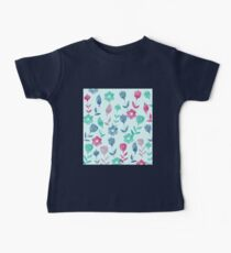 Watercolor Flowers Pattern  Baby Tee