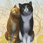 A couple of cats by Roberta Angiolani