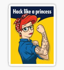 Hack like a princess Sticker