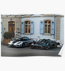 Koenigsegg One:1 and Agera RS  Poster