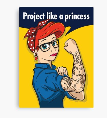 Project like a princess Canvas Print