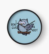 I Don't Give a Hoot - Owl Puns Clock