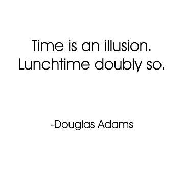 Time Is An Illusion Douglas Adams Clock by jbattdesign