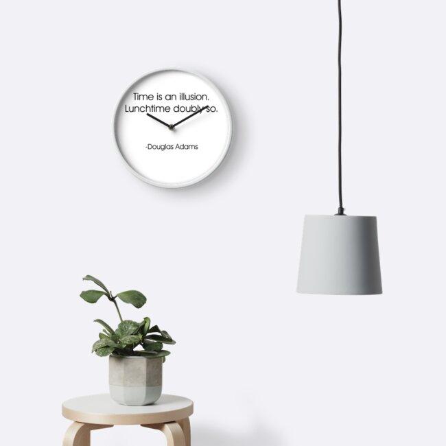 Time Is An Illusion Douglas Adams Clock by Jeff Batt