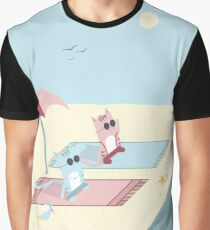 Traveling Tabbies: Let's Go to the Beach Graphic T-Shirt