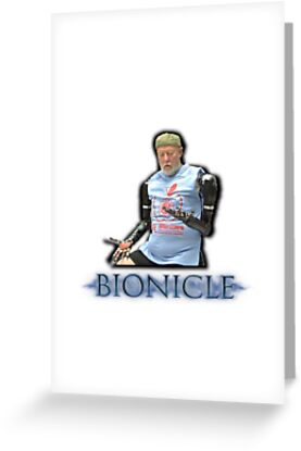 Bionicle bionic man edgy greeting cards by ojsmayo redbubble bionicle bionic man edgy by ojsmayo m4hsunfo Images