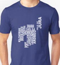 Islay Distillery Map Unisex T-Shirt